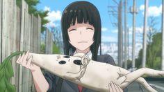 Makoto Kowata with Mandrake - Flying Witch