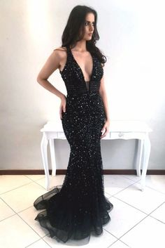 Deep V-neck Shine Beaded Prom Dress,Sexy Prom Dress,Black Prom Dress,Mermaid Prom Dresses With Rhinestones,Long Pageant Dresses Pageant Dresses For Teens, 2 Piece Homecoming Dresses, Elegant Bridesmaid Dresses, Unique Prom Dresses, Black Prom Dresses, Mermaid Prom Dresses, Formal Dresses, Graduation Dresses, Pageant Gowns