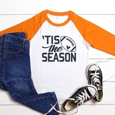 Tis the Season for Football Pick Your Team Colors College | Etsy College Football Gameday, Football Shirts, Clemson Quarterback, Tiger Shirt, Game Day Shirts, Making Shirts, Girls Tees, Family Shirts, Tis The Season