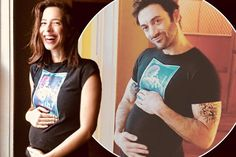 Rebecca Hall and her husband Morgan Spector announce pregnancy with sweet 'his and hers' photos