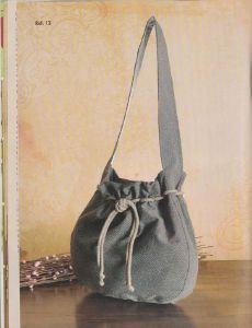 Выкройка сумки-мешок