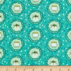 Michael Miller Wee Wander Glow Friends Sea from @fabricdotcom  Designed by Sarah Jane for Michael Miller, this cotton print is perfect for quilting, apparel and home decor accents.  Colors include mint, dusty blue, teal, aqua, white, brown and yellow.
