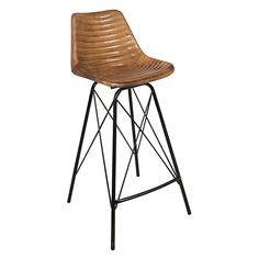 Combine vintage leather looks and a modern style with ease with the Capri Leather Bar Stool, Tan from Casa Uno. Rattan Bar Stools, Leather Bar Stools, Black Kitchens, Vintage Leather, Tan Leather, Chair, Modern, Furniture Ideas, Honey