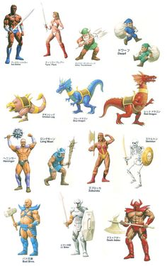 Characters and enemies (and dragons) from Sega's Golden Axe.
