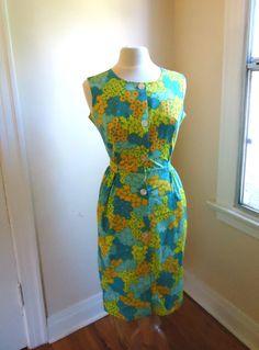 Vintage 1960s Floral Dress by BlackLodgeVintage on Etsy, $30.00