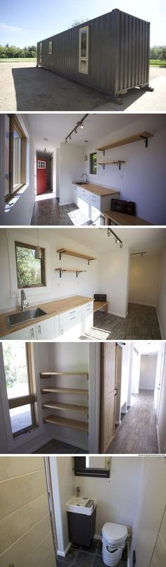 A 320 sq ft shipping container home with two bedrooms, currently available for sale in Colorado for $28,000