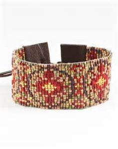 Chan Luu Japan Seed Beaded Eye Bracelet | Beadwork | Pinterest