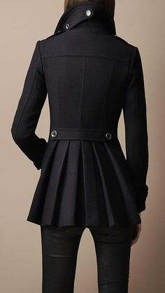 Burberry - Back pleat millitary coat  yes please
