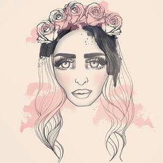Rebecca by Miomo #Rebecca_and_fiona #edm #illustration #miomo #music #art #swedish #dj #female_dj