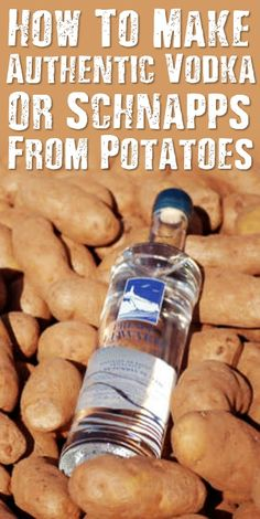 How To Make Authentic Vodka Or Schnapps From Potatoes. See how to make your very own vodka or schnapps at home for cheap using potatoes. Easy to make. How To Make Vodka, How To Make Moonshine, Homemade Alcohol, Homemade Liquor, Homemade Whiskey, Homemade Wine Recipes, Vodka Recipes, Alcohol Drink Recipes, Drink Recipes
