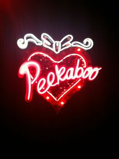 'PEEKABOO'                                                                                                                      NEON SIGN                                                                                                                      ๑෴MustBaSign෴๑
