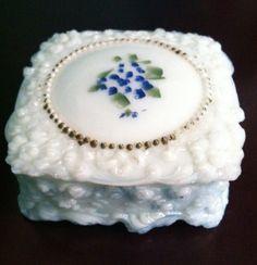 Handkerchief box, Fostoria c. 1900