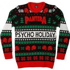 pantera ugly sweater christmas xmas holiday winter music band rock ls shirt - Band Christmas Sweaters
