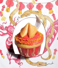 You'll find good fortune for Chinese New Year—and all year long—with these lucky sweets. Use gold decorating sugar or gold nonpareils and fortune cookies to create the look. Get the recipe for Good Luck Cupcake.