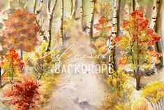 Backdrops, Boutique, Fall, Red, Painting, Autumn, Fall Season, Painting Art, Paintings