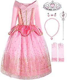 ReliBeauty Girls Princess Dress up Costume - Dress Honey Little Girl Dress Up, Fancy Dress Up, Girls Dress Up, Dress Up Outfits, Dress Up Costumes, Halloween Fancy Dress, Princess Costumes For Girls, Princess Aurora Costume, Princess Dress Up