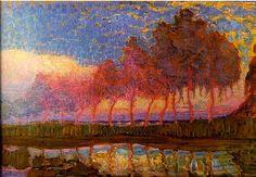 Piet Mondriaan [1872-1944] schilderde in zijn beginjaren landschappen in fauvistische stijl