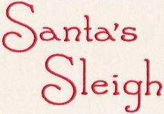 219 Santa's Sleigh Font - Jolson's Designs