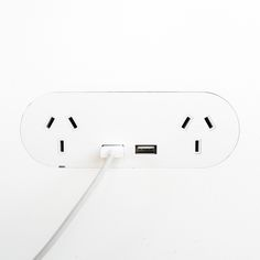 ZETR Trim-less Outlets & Switches. Double outlet with double USB finishing flush in plasterboard. Plasterboard, Outlets, It Is Finished, Usb, Detail, Furniture, Decor, Decoration, Home Furniture