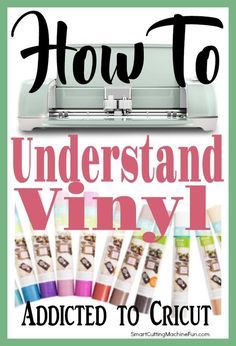 Cricut for Beginners – Understanding Cricut Vinyl is important to every project…. Cricut for Beginners – Understanding Cricut Vinyl is important to every project. Learn about the types of Cricut vinyl and what each are used for. Cardcaptor Sakura, Vinyle Cricut, Cricut Help, Cricut Air, Vinyl For Cricut, Cricut Vinyl Projects, Cricut Fonts, Cricut Cards, Stencils