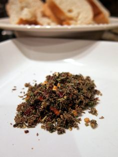 Carrabba's Bread Dip  1 Tbsp crushed red pepper flakes 1 Tbsp crushed black pepper 1 Tbsp dried oregano 1 Tbsp dried rosemary 1 Tbsp dried basil 1 Tbsp dried parsley 1 Tbsp minced garlic 2 tsp garlic salt In a container with a lid, combine all the ingredients together. Store mixture in the refrigerator until needed.  Put 1 Tbsp of mixture per person in a small saucer with raised edges. Pour EVOO over mixture and serve with warm bread.