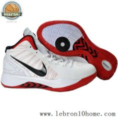 cf6a3094275 Basket-ball Blanc Rouge Hommes s Chaussures de basket Nike Lebron