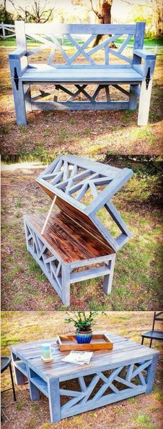 20 Insanely Cool DIY Yard and Patio Furniture HomeDesignInspired Diy Furniture Ideas Cool DIY Furniture HomeDesignInspired Insanely Patio Yard Outdoor Projects, Home Projects, Outdoor Decor, Outdoor Spaces, Outdoor Benches, Garden Benches, Outdoor Art, Balcony Garden, Log Benches