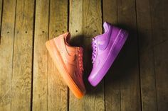 Nike Women's Air Force 1 '07 Premium - Sunset Glow and Fuchsia Glow - Air 23