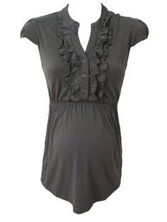 Joslyn Top in Slate by Siren Lily Maternity - Maternity Clothing - Flybelly Maternity Clothing
