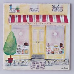 Kids French Store Front Wall Art ::Land of Nod::