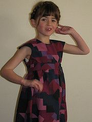 oliver+s  bubble dress with regular skirt and sash