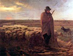 The Shepherd Returns - Jean Francois Millet