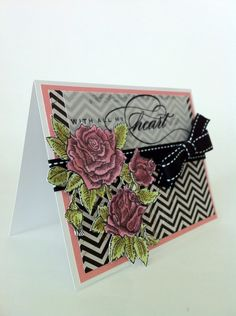 Courtney Lane Designs: Rose valentine card.