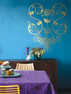 or paint with this wallstickers on...?