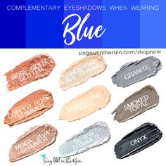 Wondering what Eyeshadow colors to wear with Blue clothing?  Let SeneGence ShadowSense help.  Shadowsense is non-smudging, budging and will LAST all day long on your eyes.  Click here to shop and grab your own!  #shadowsense #senegence