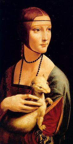 "ArtG057. Leonardo da Vinci ""La dama con l'ermellino"" / 54,8 cm x 40,3 cm / oil on canvas / 1488-1490 / Museo Czartoryski Cracovia (Polonia)"