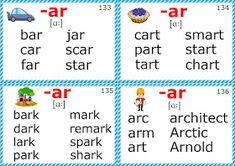 english phonics flashcards r-controlled vowel sounds English Phonics, Learn English Grammar, Learn English Words, English Lessons, English Vocabulary, Phonics Cards, Phonics Flashcards, Phonics Lessons, Phonics Activities
