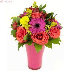 Summer daydream - Buchet din trandafiri si gerbera Daydream, Floral Wreath, Bouquet, Wreaths, Summer, Decor, Gift, Hampers, Floral Crown