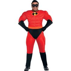 Plus Size Mr. Incredible Muscle Costume gets you in tip-top crime-fighting shape. Incredible Muscle Costume features a beefy red jumpsuit, mask, gloves and attached boot covers. Halloween Costume Shop, Halloween Costumes For Kids, Halloween 2016, Incredibles Costume, The Incredibles, Toddler Costumes, Adult Costumes, Superhero Costumes For Men, Plus Size Halloween