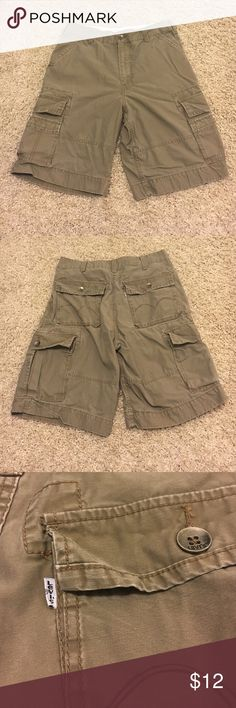 Men's Levi's Cargo Shorts Shorts have 8 pockets. About 23 inches long. No holes or rips. Levi's Shorts Cargo