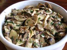 Salade champignons de paris