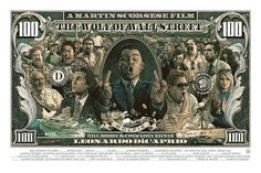 This impressive screen print poster inspired by The Wolf of Wall Street was created by Poland-based artist-designer Krzysztof Domaradzki as a private commission. Wolf Of Wall Street, Street Art, Wall Art Pictures, Print Pictures, Screen Print Poster, Poster Prints, Canvas Poster, Dessin Old School, Street Tattoo