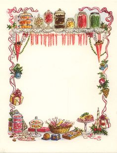 RARE Tasha Tudor Vintage IRENE DASH Christmas Card Mint Condition as shown