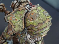 Nurgle Conversion. Awesome use of the crackle paint on the armor.