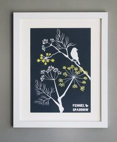 Fennel and Sparrow print by Alison Bick chosen by Big Bird, Little Bird for  #folksyfriday