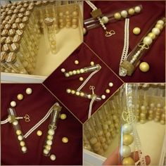 Μπομπονιέρες σε δοκιμαστικό σωλήνα Pearl Necklace, Pearls, Jewelry, String Of Pearls, Jewlery, Jewerly, Beads, Schmuck, Pearl Necklaces