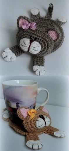 Cat Stand Under the Cup