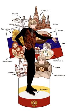 Axis Powers: Hetalia. Russia and Evgeni Plushenko