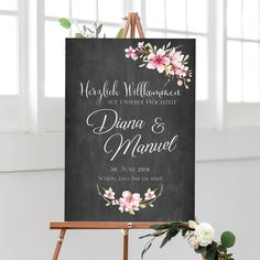 """Wedding sign """"Welcome"""" in Chalkboard style – Wedding details ideas Diy Wedding Bar, Diy Wedding Decorations, Wedding Signs, Wedding Tables, Reception Signs, Welcome To Our Wedding, Diy Bar, Invitation, Sign Printing"""