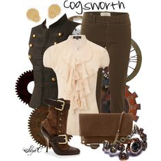 """Cogsworth Steampunk - Disney's Beauty & the Beast"" by rubytyra on Polyvore"